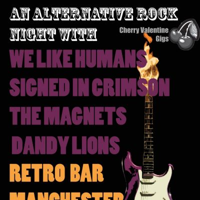 Cherry Valentine Presents An Alternative Rock Night Tickets | Retro Bar Manchester  | Fri 4th October 2013 Lineup